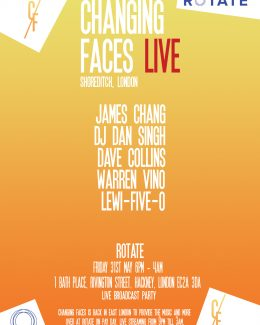 Changing Faces Live Shoreditch May 31st